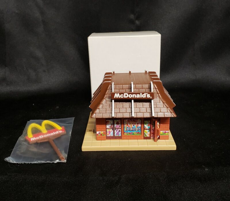 New Vintage 1989 McDonald's Restaurant Music Box Collectible Figurine