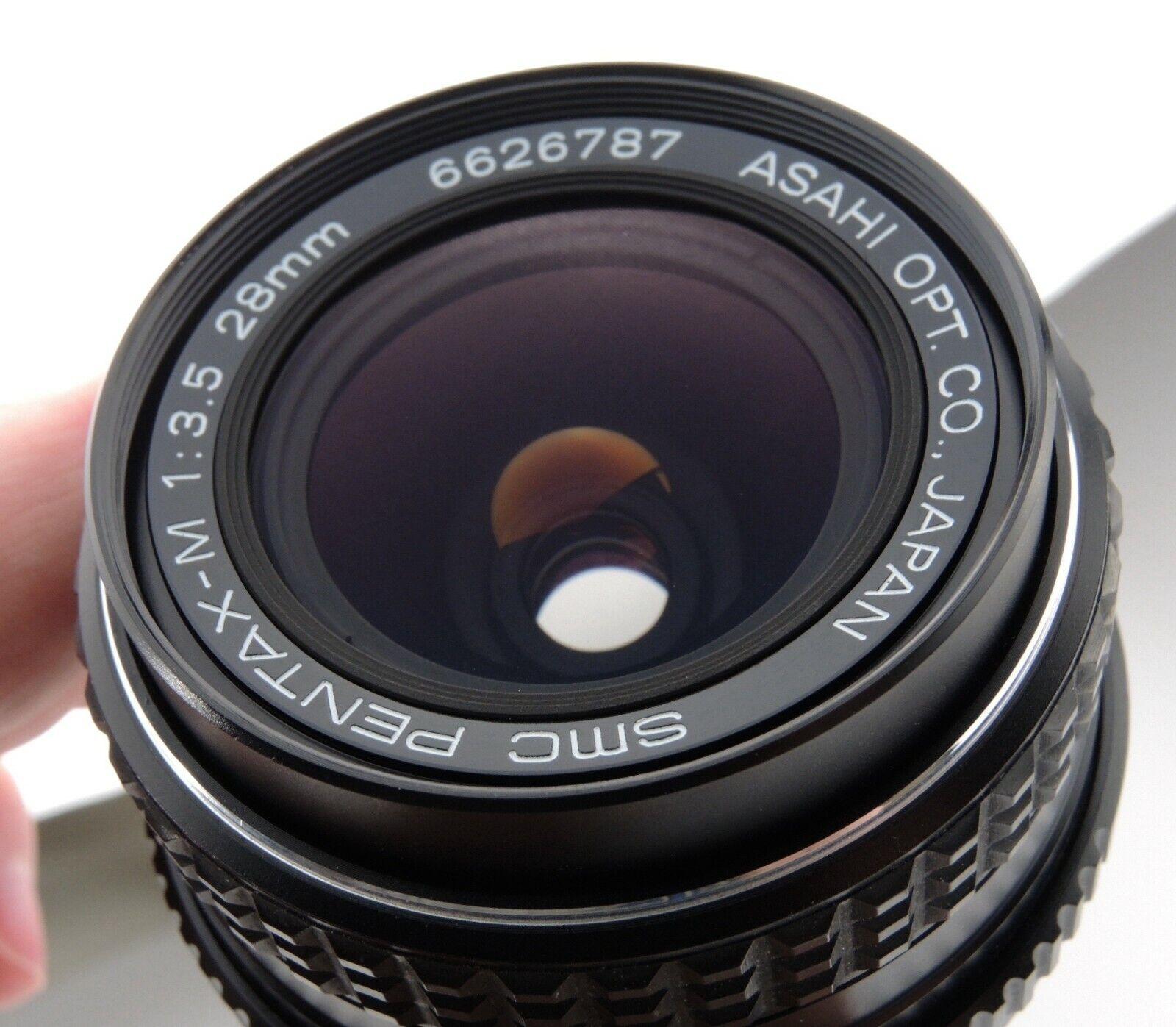 ASAHI PENTAX 28mm F3.5 SMC-M SMC M LENS / PENTAX K MOUNT PK SUPER CLEAN GLASS - $59.99