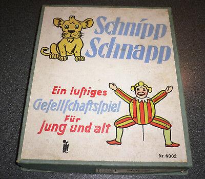Vintage Spiel SCHNIPP SCHNAPP - ein lustiges Gesellschaftsspiel für Jung und Alt ()
