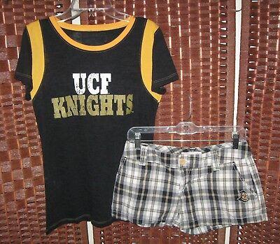 - UCF Knights plaid shorts 7 shirt L jrs E5 college classics Central Florida set