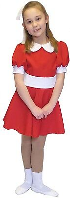 Orphan ANNIE Red CUTE RED fancy Dress OUTFIT all - Orphan Kostüm