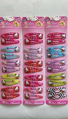 NEW 30 Hello Kitty Strong Hairclips Hairslides Clips (D5)