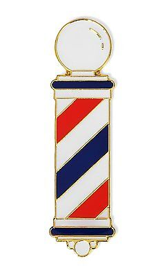 High Quality MD Barber Hand Made Barber Pole Lapel Pins w/Beautiful Clear -