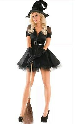 Sexy Party King Bewitching Pin-Up Witch Dress Costume - Witch King Kostüm