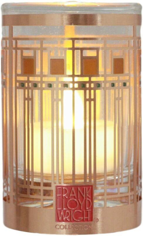 Frank Lloyd Wright Oak Park Home & Studio Art Glass Window Votive Candle Holder