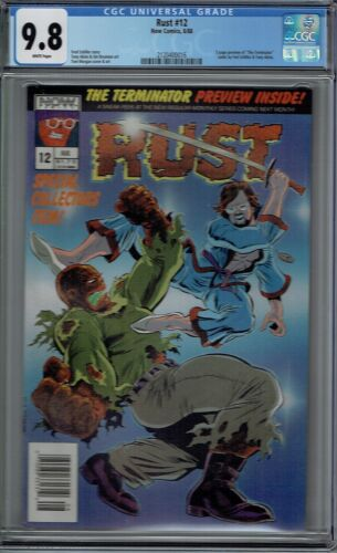 CGC 9.8 RUST #12 RARE 1ST APPEARANCE OF TERMINATOR IN 5 PAGE PREVIEW 1988 NOW