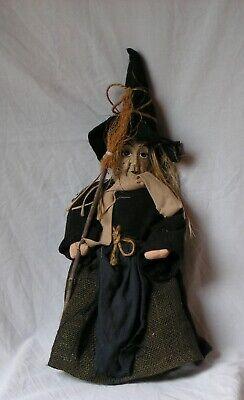 Hexe  schwarz zum Hängen Halloween Dekoration