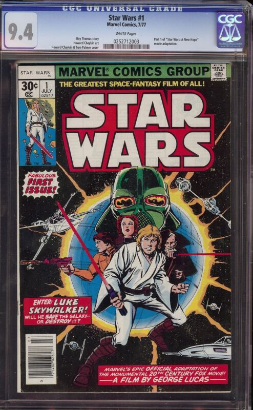 Star Wars # 1 CGC 9.4 White 1st appearance of Star Wars characters and universe