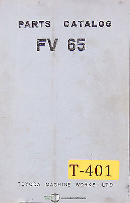 Toyoda Fv65 Milling Parts Manual