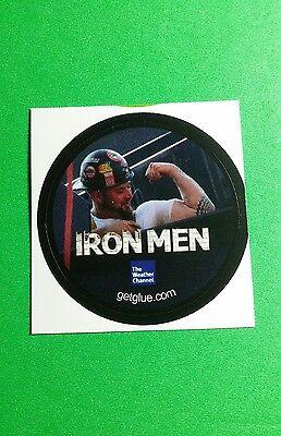 Iron Men Flexing Weather Channel Tv Rare Small 1 5  Get Glue Sticker
