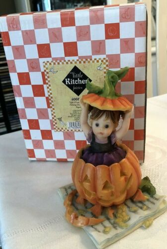 Little Kitchen Fairies Enesco Jack O Lantern New in Box Halloween