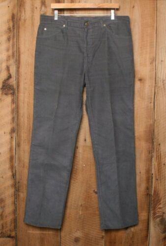 Vintage LEE Model No. 200-2802 Gray Corduroy Straight Leg Jeans Pants Sz. 37x32