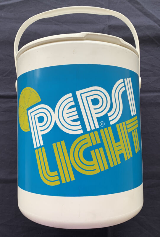 "Vintage 1976 Pepsi Light Cooler 14"" Bucket With Tray & Lid"