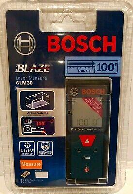 BOSCH BLAZE 100 ft. Laser Distance Measurer GLM 30-Brand New