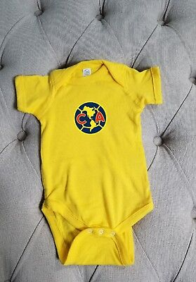 b9949b670b3 Club Aguilas/ Club America Mexico Baby 6-9 months add your baby's name free.