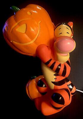 """Disney Tigger Winnie The Pooh Halloween Light Blow Mold Paper Magic 15"""" Tall"""