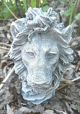 Latex  lion bust  mold plaster cement casting garden mould