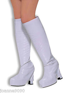 *GO GO GOGO GIRL 60S 70S HIPPY HIPPIE SHOE FANCY DRESS COSTUME BOOT TOPS COVERS*