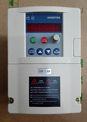 Input 1hp-110v Output 3ph-110v 1.5kw 13a Vfd Inverter Frequency Converter 400hz