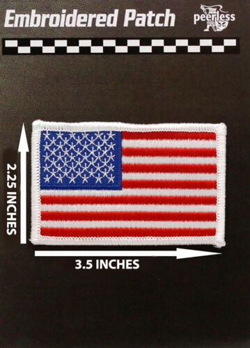 """American Flag Patch White Border Approx 3.5"""" x 2.25"""""""