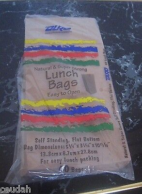 (120) Brown Paper Lunch Bags Self Standing Flat Bottom Natural Sack, Expedited