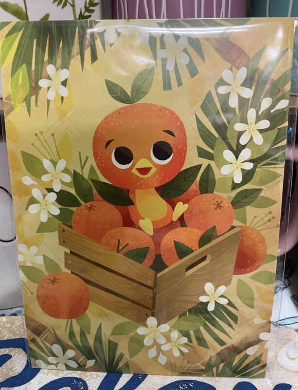 "Disneyland Disney Wonderground Gallery ""Orange Bird"" Postcard 5X7. Joey Chou"