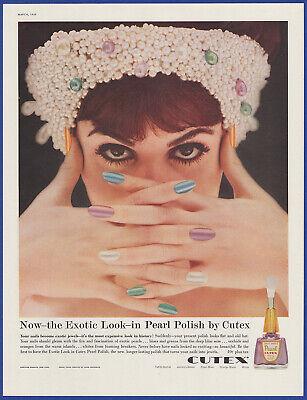 Vintage 1959 CUTEX Pearl Nail Polish Exotic Ephemera 50's Print Ad