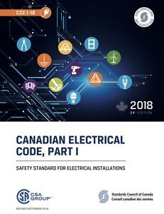 BRAND NEW NEVER USED Canadian Electrical Code, Part 1 2018
