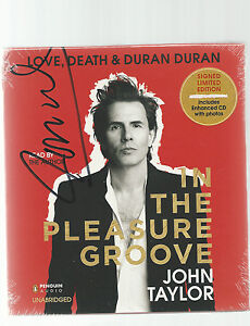 JOHN TAYLOR  LOVE DEATH & DURAN DURAN In The Pleasure Groove SIGNED AUDIO BOOK