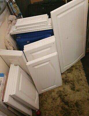 used white gloss kitchen doors