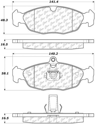 Disc Brake Pad Set fits 1997-2006 Jaguar Vanden Plas,XJ8