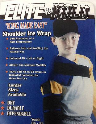 Elite Kold Shoulder Ice Wrap Youth Women DK-53 Athlete Baseball Pitchers Pitchers Shoulder Ice