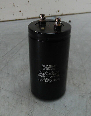 Siemens Electric Capacitor B43564-s2378-q1 250 V 3700 Uf Used Warranty