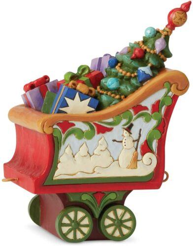 Jim Shore CHRISTMAS TRAIN COAL CAR-TIDINGS IN TOW CABOOSE 6005692 NEW IN BOX