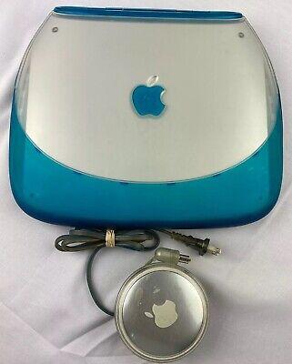 Apple iBook G3 Clamshell Laptop M2453 Blue Power PC 300 Mhz 288MB RAM3 GB HD