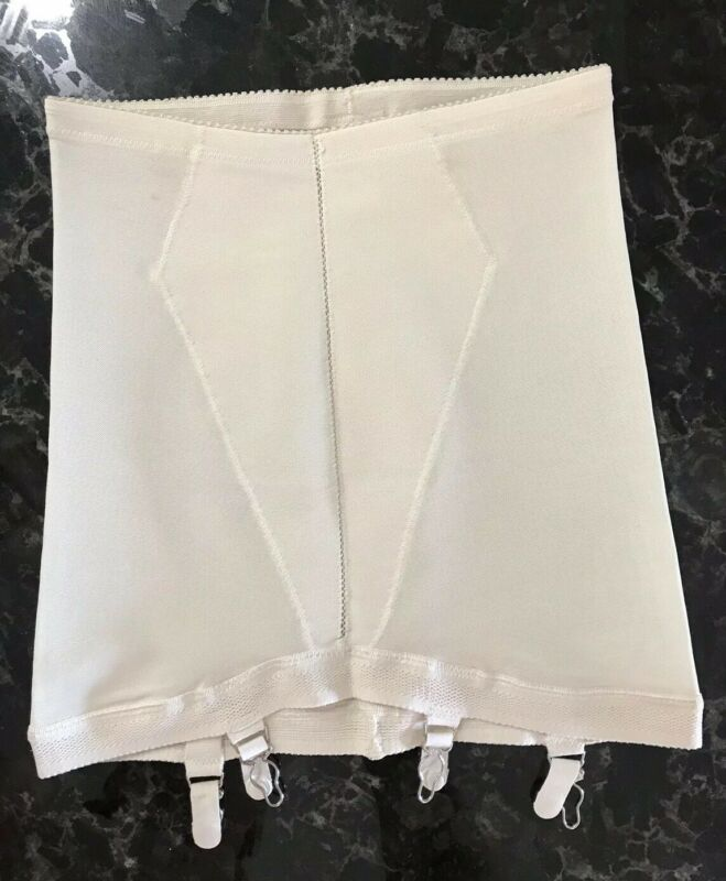 Vintage 60s Girdle Garters Open Bottom Hollywood Vasarette Ivory Size MEDIUM USA