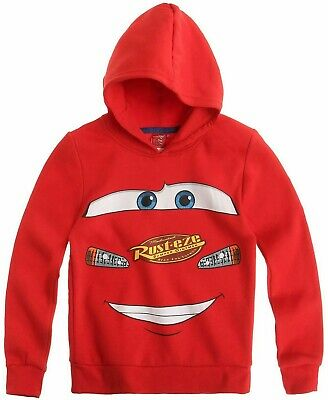 Kinder Sweatshirt Mit Kapuze (DISNEY CARS / Kinder Sweatshirt mit Kapuze in Rot / 3-8 Jahre - Größe 98-128 cm)