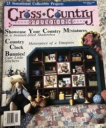 Cross Country Stitching Magazine MAY/JUNE 1991-Flowers,Bunnies,Samplers,Clock