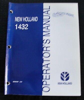 New Holland 1432 Discbine Disc Mower Conditioner Operators Manual B4 Ser 661369