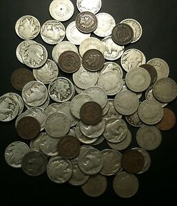 ★Old US Coin Estate Lot ★ Buffalo V Liberty Nickels ★ Indian Penny Cents Iconic★