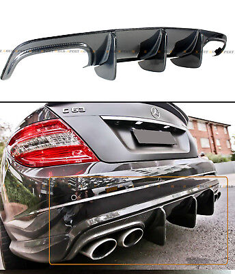 FOR 08-11 MERCEDES W204 C63 AMG BIG SHARK FIN CARBON FIBER REAR BUMPER DIFFUSER, used for sale  Hacienda Heights