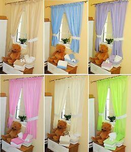 kinderzimmer vorh nge applikation babyzimmer unifarbig baby gardinen neu ebay. Black Bedroom Furniture Sets. Home Design Ideas
