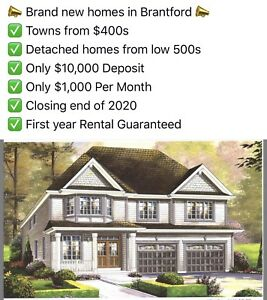 Book Brand new homes in Brantford ON