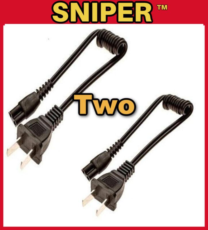 "TWO 12"" Stun Gun Coil Charger Cord Vipertek  Police Stun Master Guard Dog Sniper"
