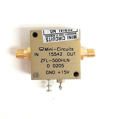 Mini-circuits Zfl-500hln Low Noise Amplifier 10 To 500 Mhz 50 Ohms Sma