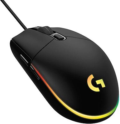 Logitech G203 Lightsync Wired Optical Gaming Mouse - Black