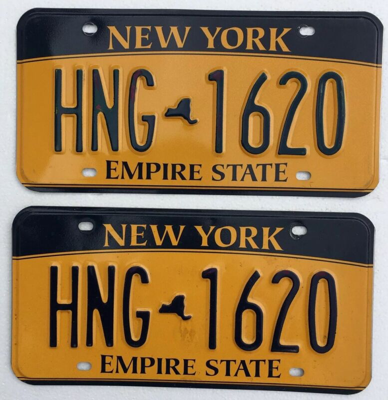 2010 New York License Plates Pair, NOS Mint Cond.