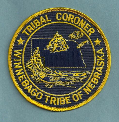 WINNEBAGO NEBRASKA TRIBAL CORONER PATCH
