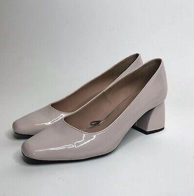 Zara Trafaluc Pink Block Heel Pump  Shoe 38 US 7.5