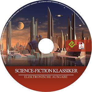 ScienceFiction Klassiker CD-Rom 46 eBooks 25000 Seiten pdf epub eReader Sammlung